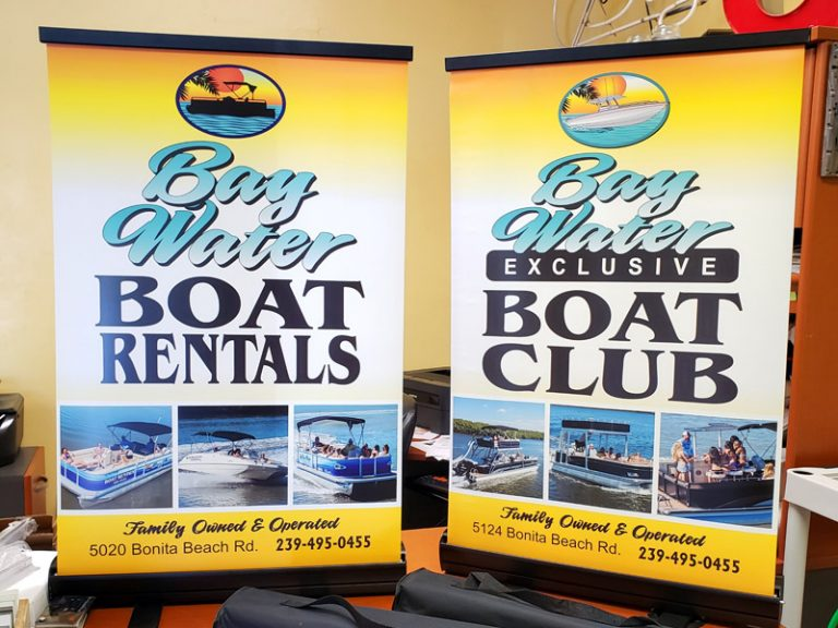 BAY WATER TABLE TOP BANNERS