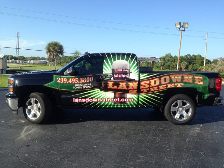 pick up truck wrap, truck wrap