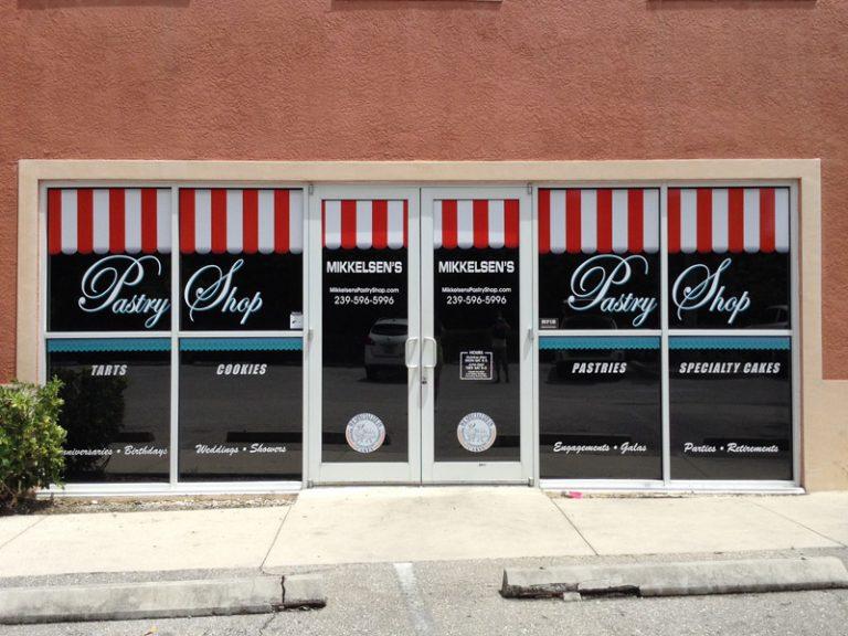 custom storefront logo wrap window wraps window graphics naples bonita springs signs
